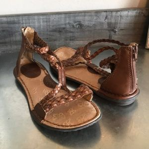 B.o.c. Gladiator style brown sandals